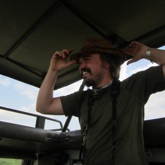 Robert in the field in Tanzania
